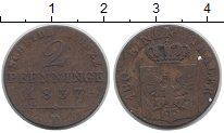 Изображение Монеты Германия Пруссия 2 пфеннига 1837 Медь VF