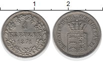 Изображение Монеты Германия Вюртемберг 1 крейцер 1871 Серебро XF
