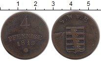 Изображение Монеты Саксен-Веймар-Эйзенах 4 пфеннига 1813 Медь XF
