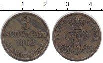 Изображение Монеты Германия Ольденбург 3 шварена 1862 Медь XF