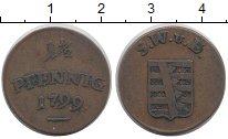 Изображение Монеты Германия Саксен-Веймар-Эйзенах 1 1/2 пфеннига 1799 Медь XF