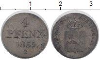 Изображение Монеты Ганновер 4 пфеннига 1835 Серебро VF Герб