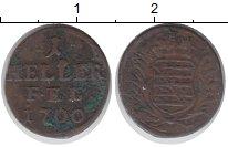 Изображение Монеты Саксен-Веймар-Эйзенах 1 хеллер 1700 Медь VF
