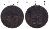 Изображение Монеты Саксен-Веймар-Эйзенах 4 пфеннига 1821 Медь XF