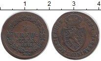 Изображение Монеты Нассау 1/4 крейцера 1818 Медь VF Герб