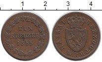 Изображение Монеты Нассау 1 крейцер 1855 Медь VF Герб