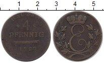 Изображение Монеты Германия Саксен-Кобург-Саалфелд 4 пфеннига 1820 Медь VF-