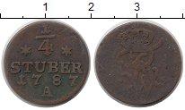 Изображение Монеты Юлих-Берг 1/4 стюбера 1787 Медь VF