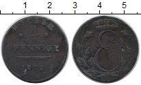 Изображение Монеты Германия Саксен-Кобург-Саалфелд 4 пфеннига 1809 Медь
