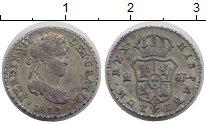 Изображение Монеты Испания 1/2 реала 1819 Серебро XF Фердинанд VII