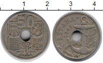 Изображение Монеты Испания 50 сентим 1949 Медно-никель XF якорь