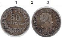 Изображение Монеты Италия 50 сентесим 1863 Серебро VF Витторио Эмануил II