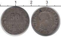 Изображение Монеты Италия 50 сентесим 1867 Серебро VF