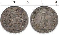 Изображение Монеты Мекленбург-Стрелитц 1/24 талера 1766 Серебро VF