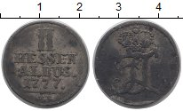 Изображение Монеты Гессен-Кассель 2 альбуса 1777 Серебро VF