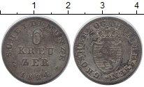 Изображение Монеты Германия Гессен 6 крейцеров 1824 Серебро XF