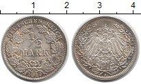 Изображение Монеты Германия 1/2 марки 1917 Серебро XF