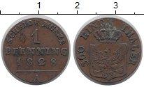 Изображение Монеты Пруссия 1 пфенниг 1828 Медь VF