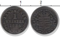 Изображение Монеты Германия Саксен-Майнинген 1 крейцер 1834 Медь VF