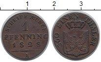 Изображение Монеты Пруссия 1 пфенниг 1828 Медь XF
