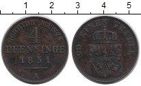 Изображение Монеты Германия Пруссия 4 пфеннига 1851 Медь XF