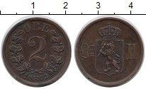 Изображение Монеты Норвегия 2 эре 1893 Медь XF Оскар II.