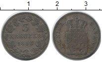 Изображение Монеты Бавария 3 крейцера 1853 Серебро VF