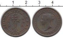 Изображение Монеты Шри-Ланка Цейлон 1 цент 1870 Медь XF