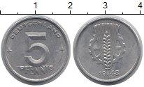 Изображение Монеты ГДР 5 пфеннигов 1948 Алюминий XF
