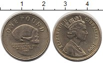 Изображение Монеты Гибралтар 1 фунт 2006 Латунь XF