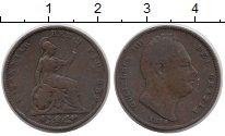 Изображение Монеты Великобритания 1 фартинг 1834 Медь VF