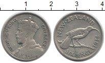 Изображение Монеты Новая Зеландия 6 пенсов 1934 Серебро VF