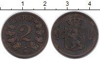 Изображение Монеты Норвегия 2 эре 1889 Медь XF Оскар II.