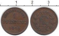 Изображение Монеты Бавария 1 пфенниг 1869 Медь XF