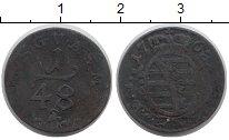 Изображение Монеты Германия Саксония 1/48 талера 1768 Медь VF