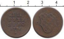 Изображение Монеты Бавария 2 пфеннига 1796 Медь VF Герб