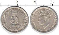 Изображение Монеты Малайя 5 центов 1945 Медно-никель XF Георг VI.