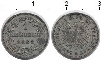Изображение Монеты Франкфурт 1 крейцер 1862 Серебро XF