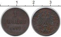 Изображение Монеты Франкфурт 1 хеллер 1856 Медь VF Герб