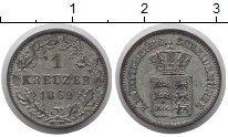 Изображение Монеты Германия Вюртемберг 1 крейцер 1869 Серебро XF