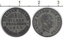Изображение Монеты Германия Пруссия 1/2 гроша 1863 Серебро XF