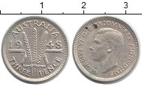 Изображение Монеты Австралия 3 пенса 1948 Серебро XF