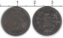Изображение Монеты Германия Саксония 3 крейцера 1834 Серебро VF
