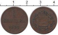 Изображение Монеты Германия Бавария 1/2 крейцера 1853 Медь VF