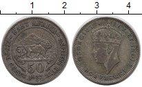 Изображение Монеты Восточная Африка 50 центов 1937 Серебро VF