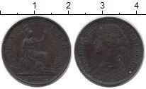 Изображение Монеты Великобритания 1 фартинг 1866 Медь VF