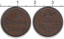 Изображение Монеты Данциг 1 пфенниг 1937 Медь VF Вольный город