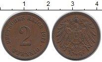Изображение Монеты Германия 2 пфеннига 1914 Медь VF