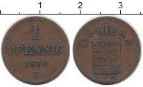 Изображение Монеты Саксония 1 пфенниг 1852 Медь XF