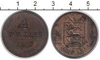 Изображение Монеты Гернси 4 дубля 1885 Медь VF Герб